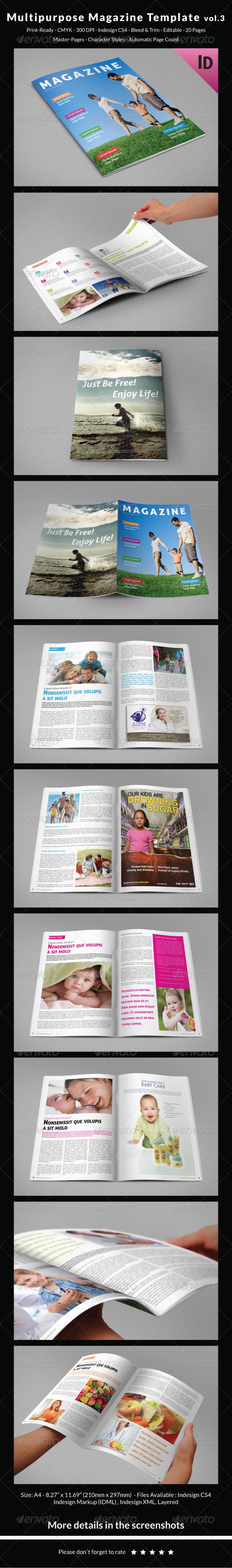 Multipurpose Magazine Template Vol.3 - Magazines Print Templates