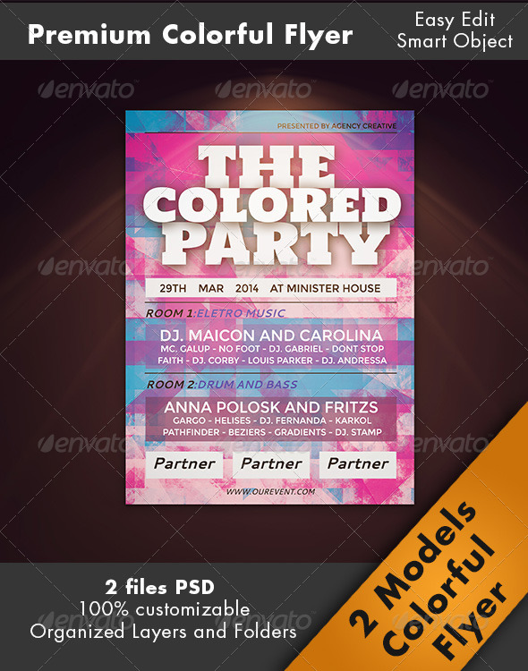 Flyer Colorful Party - Clubs & Parties Events