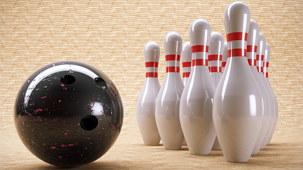 Bowling Pins And Ball. (VrayC4D) - 3DOcean Item for Sale