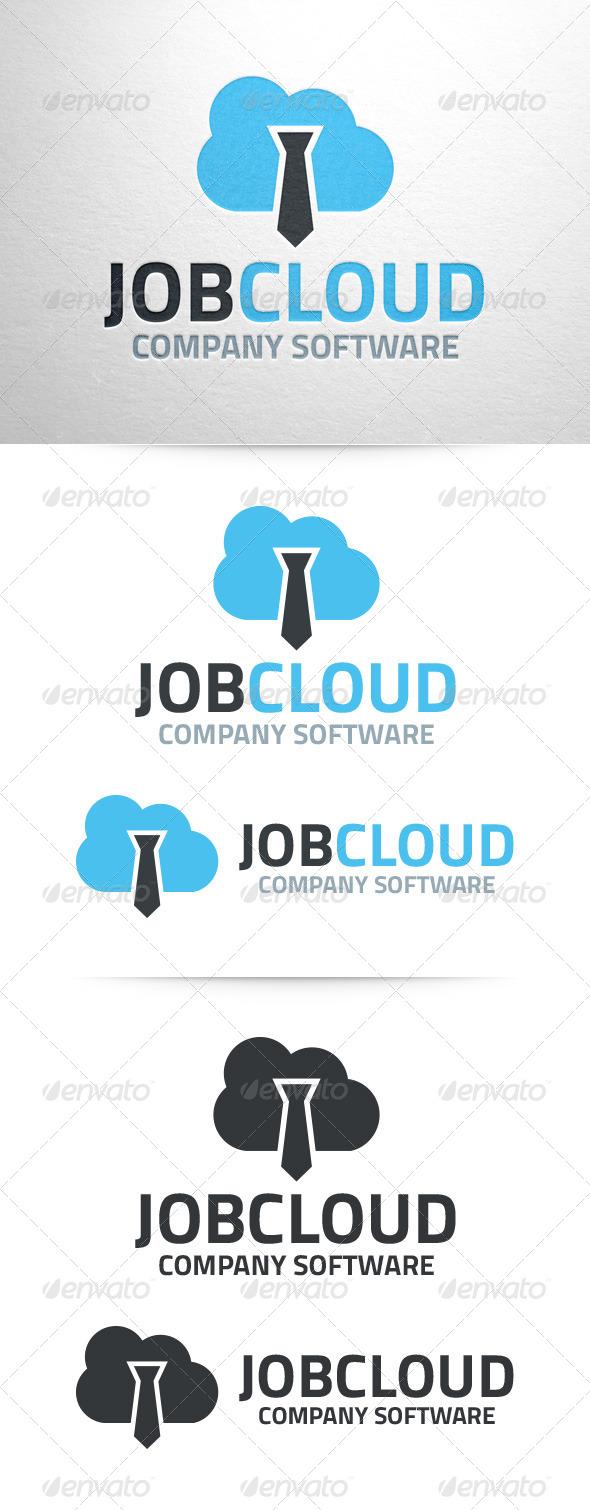 Job Cloud Logo Template - Objects Logo Templates