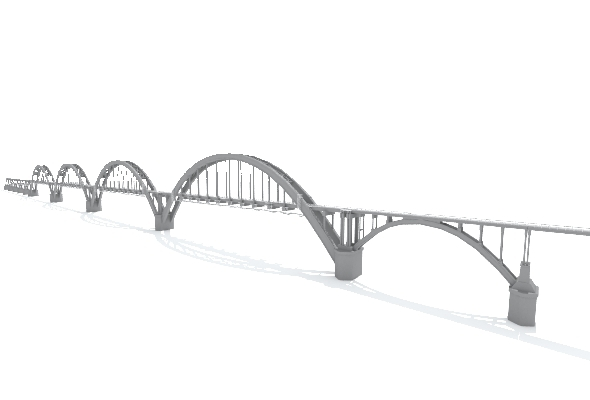 Sartakovsky Bridge - 3DOcean Item for Sale