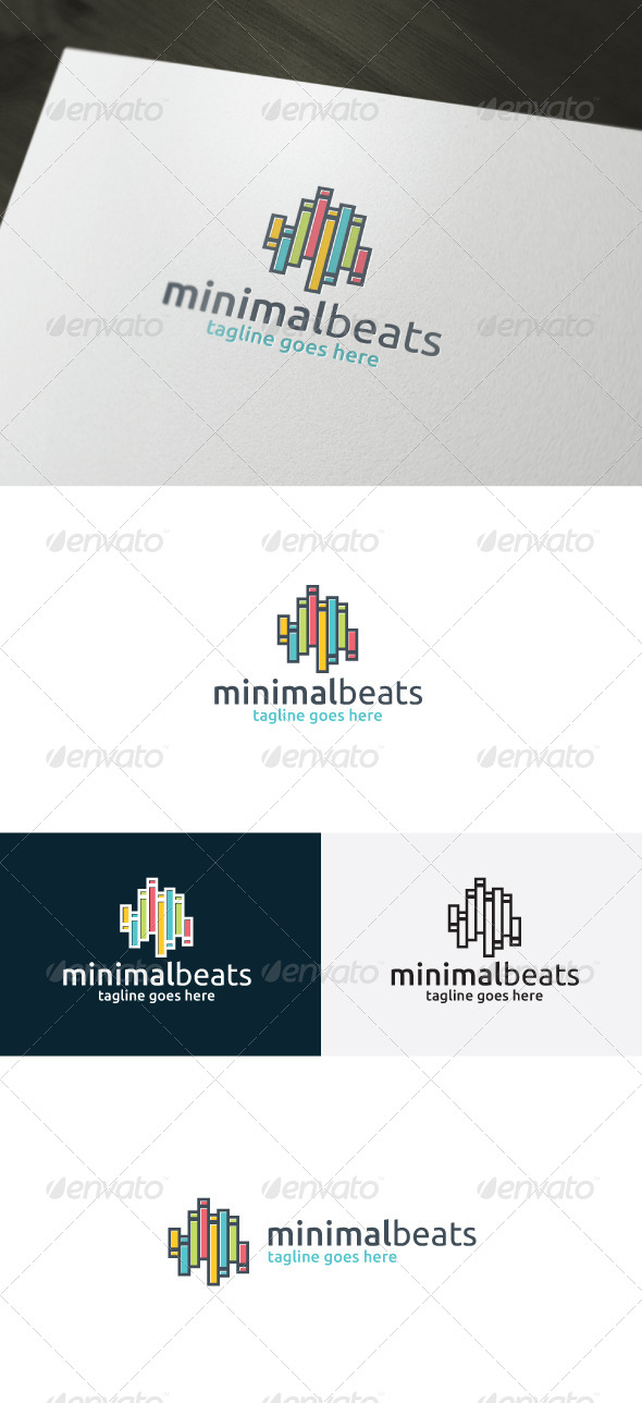 Minimal Beats Logo - Vector Abstract