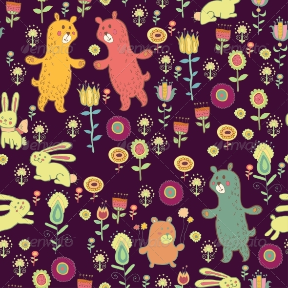 Autumn Forest Seamless Pattern - Patterns Decorative