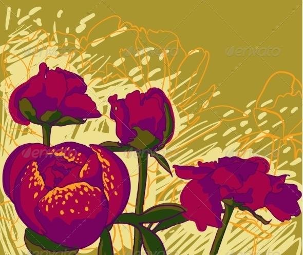 Peony Flower - Decorative Symbols Decorative