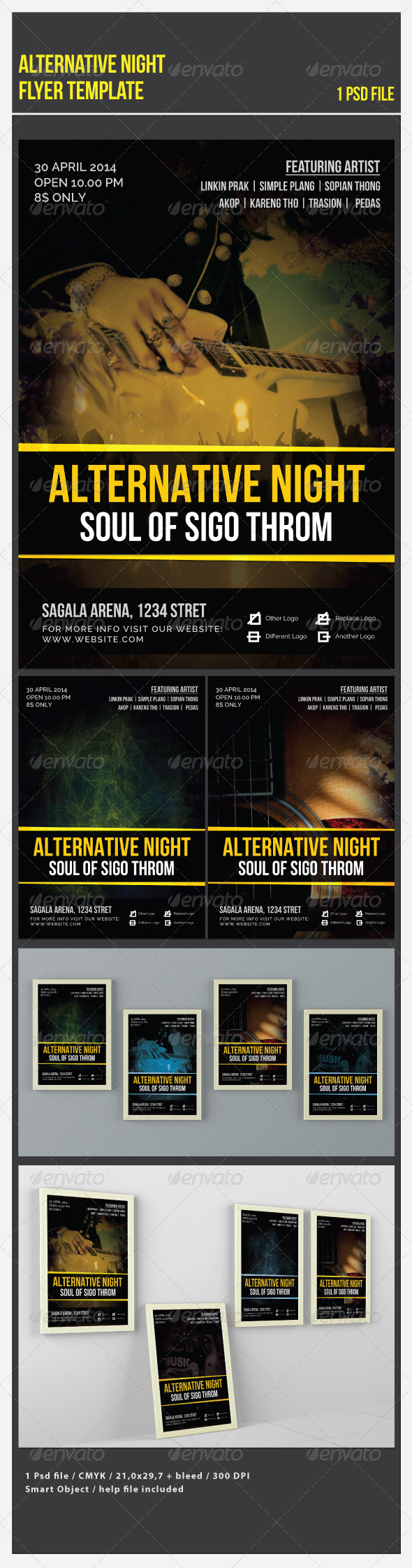 Alternative Night Flyer Template - Flyers Print Templates