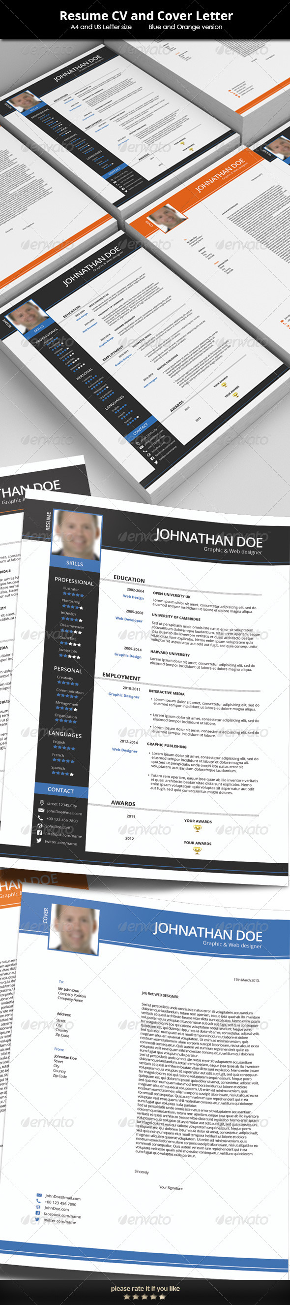 Resume CV Template - Resumes Stationery
