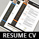 Resume CV Template - GraphicRiver Item for Sale