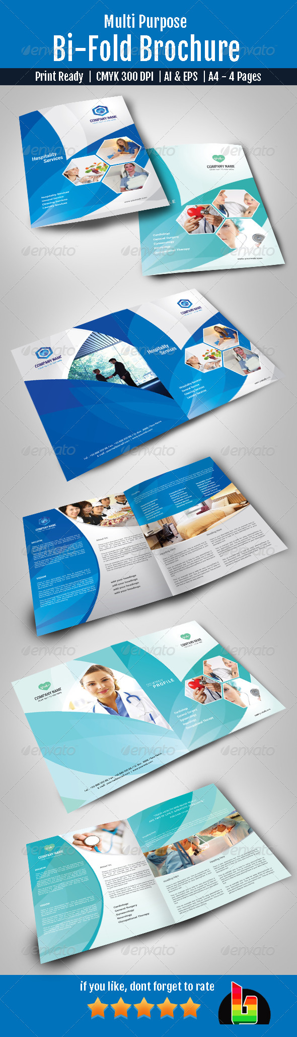 Multi Purpose Bi-Fold Brochure - Corporate Brochures