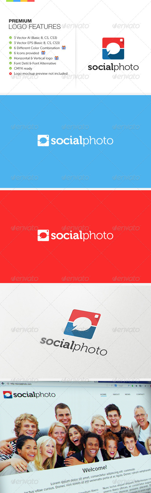 Social Photo Logo - Symbols Logo Templates