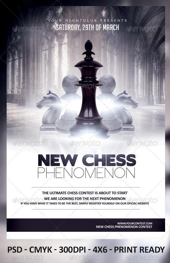 Chess Phenomenon - Events Flyers