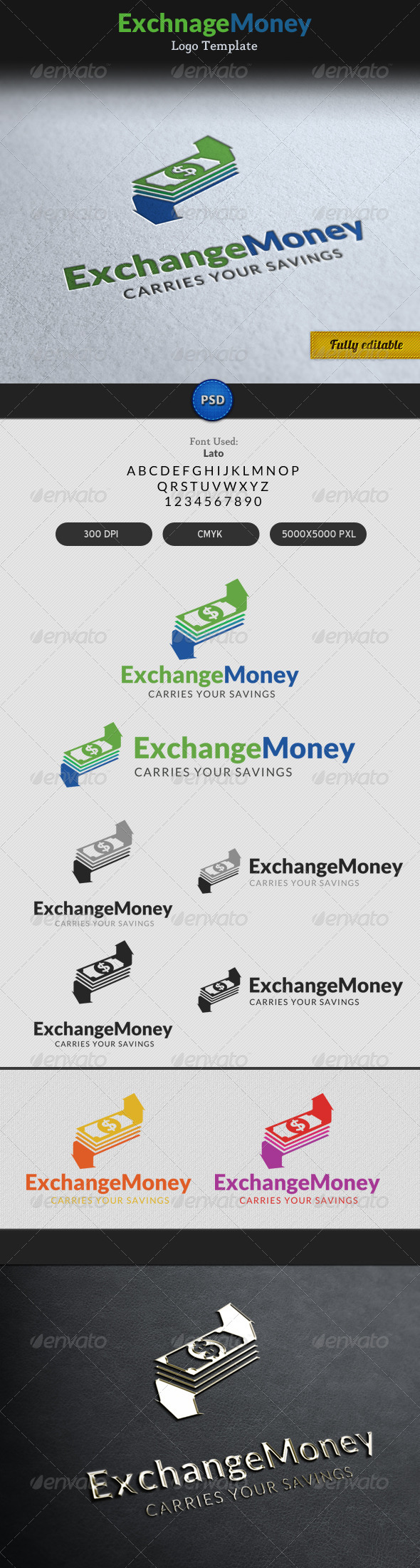 Exchange Money Currency Transaction Logo - Objects Logo Templates