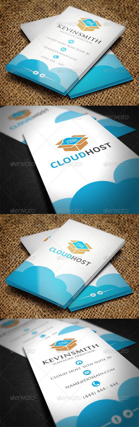 Cloud Business Card - Creative Business Cards