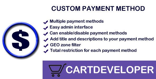 Custom Payment methods for Opencart - CodeCanyon Item for Sale