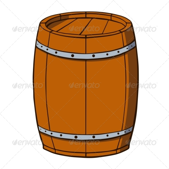 Cartoon Barrel - Man-made Objects Objects