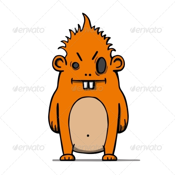 Cartoon Hairy Monster - Monsters Characters