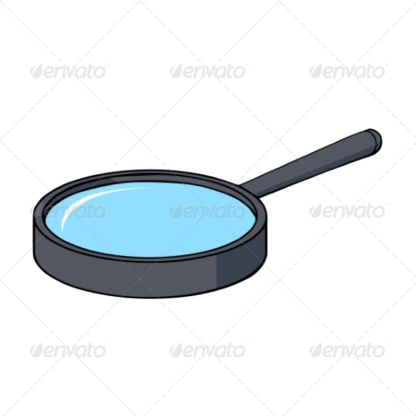 Cartoon Magnifying Glass - Man-made Objects Objects