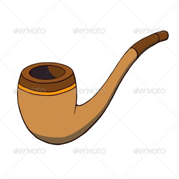 Cartoon Tobacco Pipe - Man-made Objects Objects