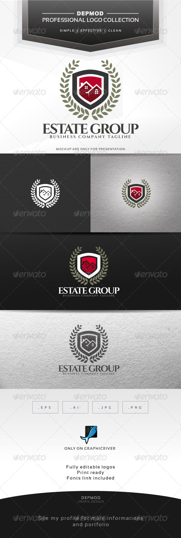 Estate Group Logo - Buildings Logo Templates