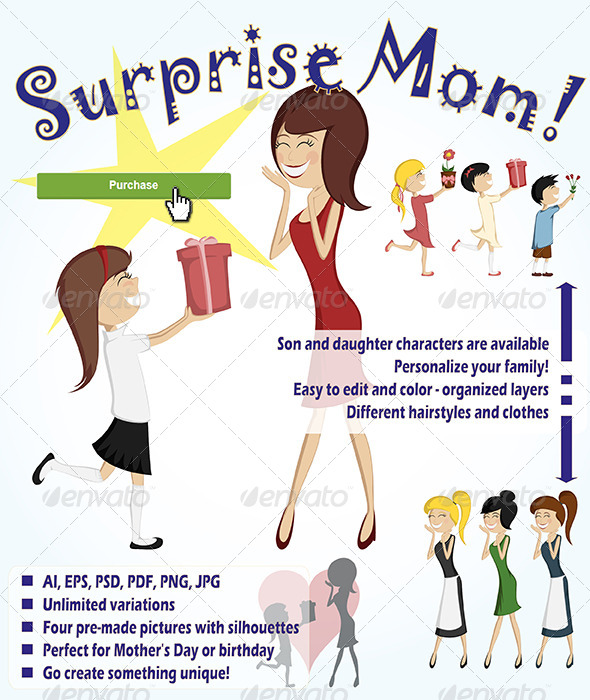 Surprise Mom - People Characters