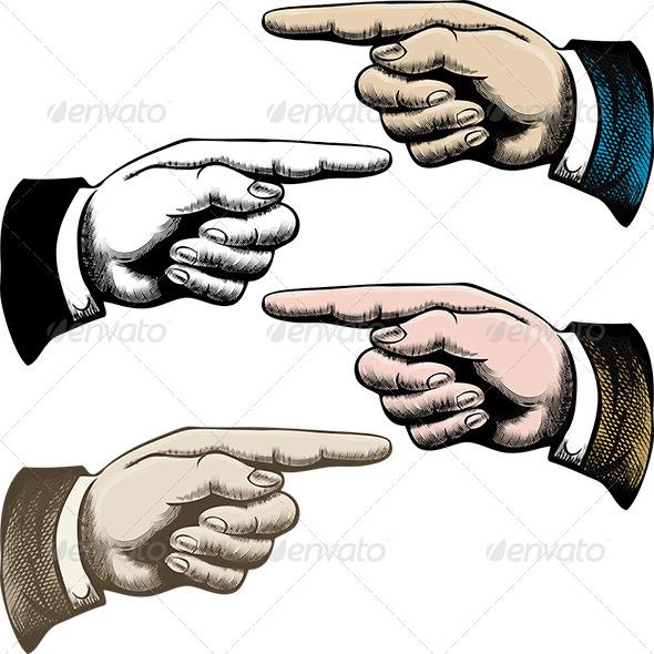 Pointing Fingers - Conceptual Vectors