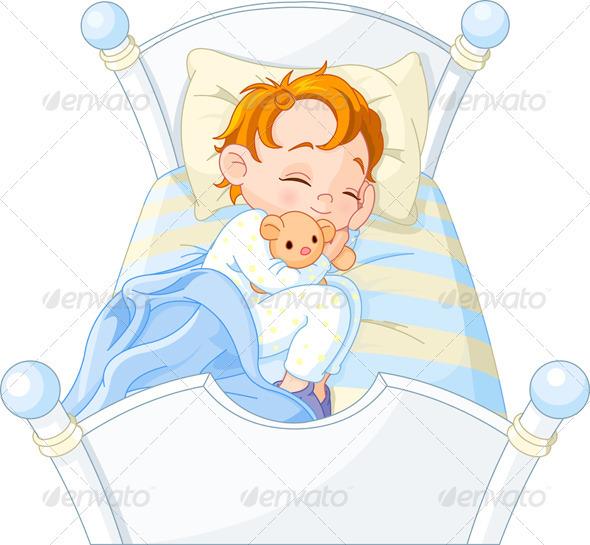 Little boy sleeping - People Characters