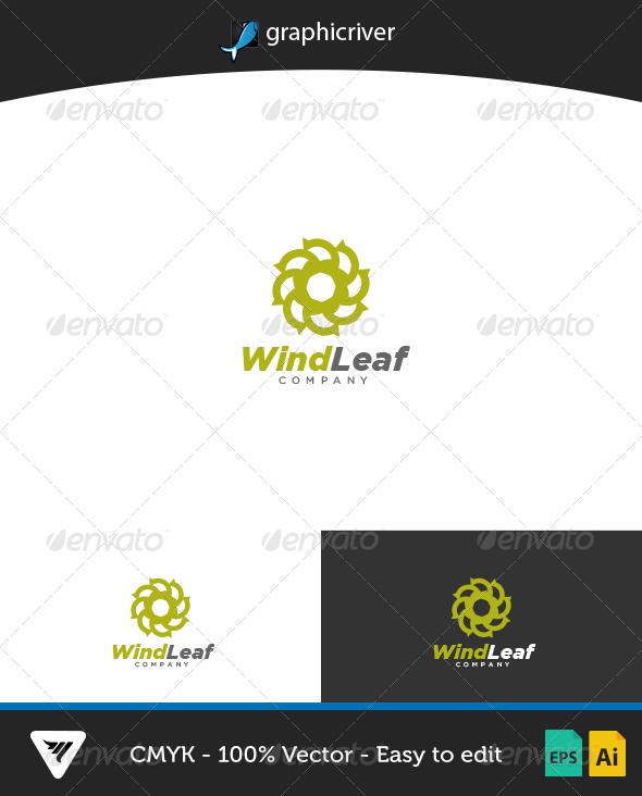 WindLeaf Logo - Logo Templates