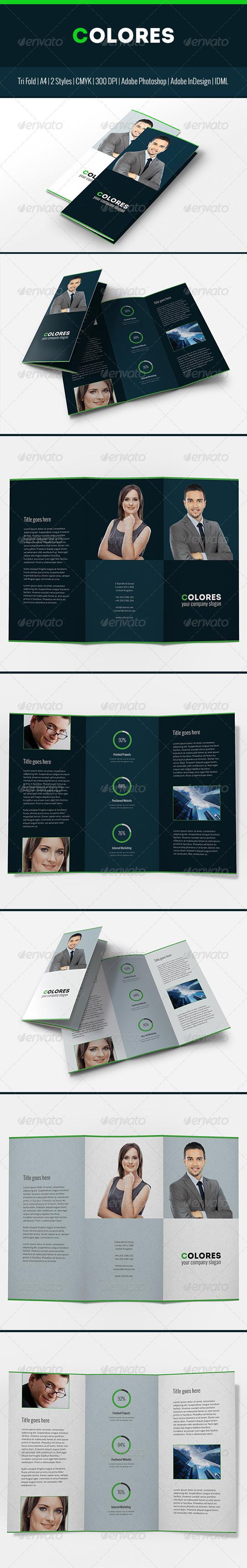 Colores Brochure Corporate Tri Fold - Corporate Brochures