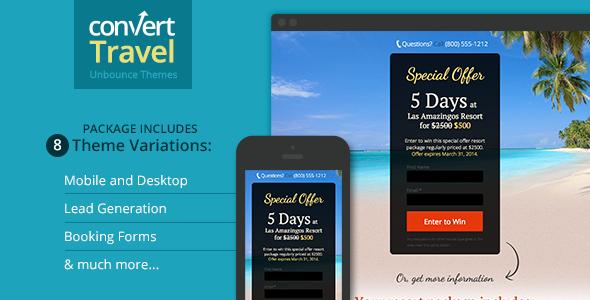 Travel & Tourism Landing Page - Unbounce Template