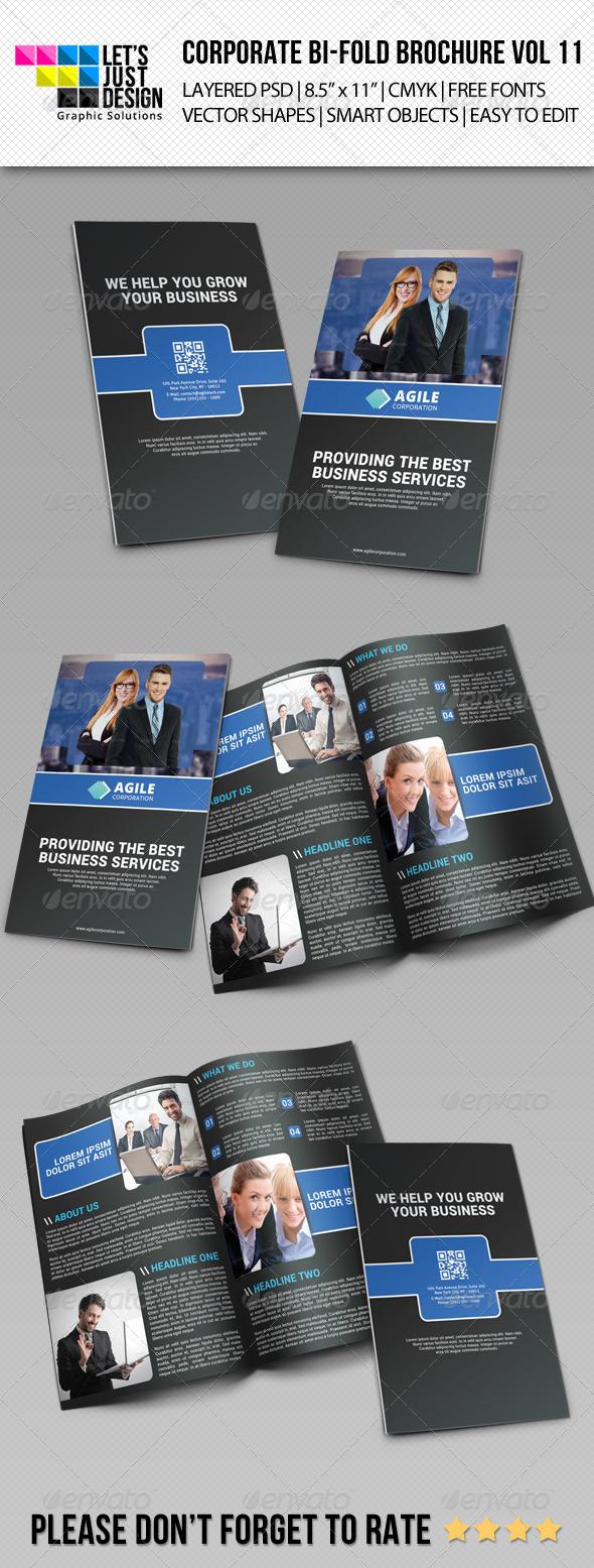 Creative Corporate Bi-Fold Brochure Vol 11 - Corporate Brochures