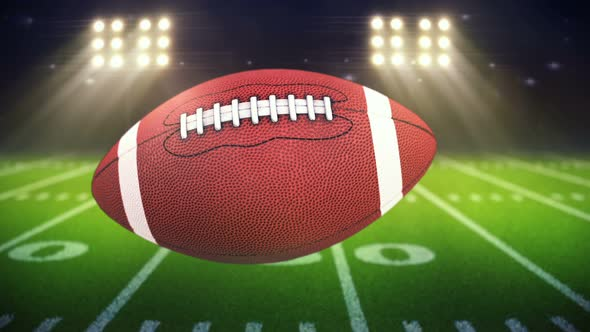 American Football Ball Background: American Ball Background & Football Field By Podrivystoev