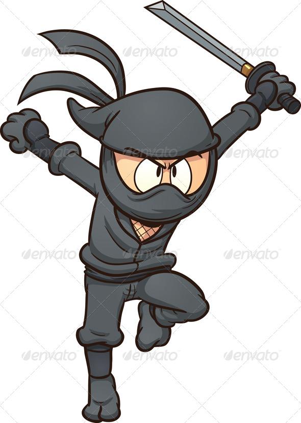 Ninja Running - Characters Vectors