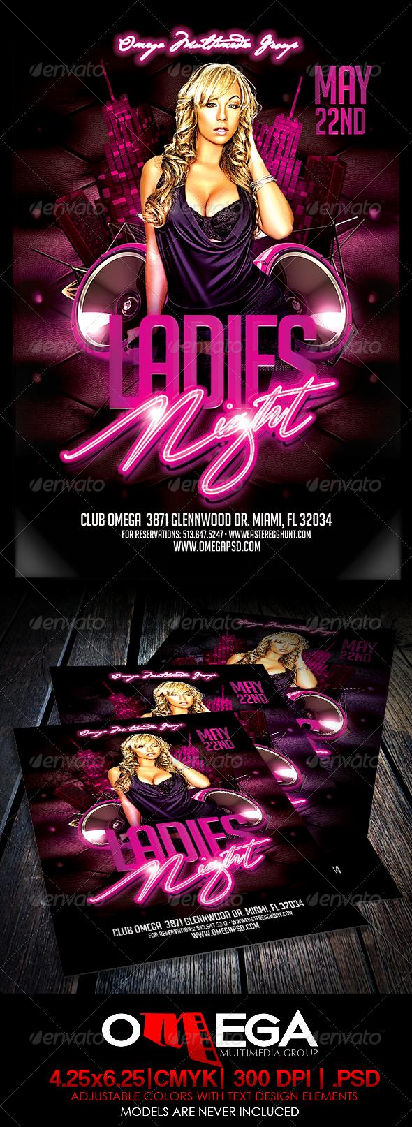 Ladies Night - Events Flyers