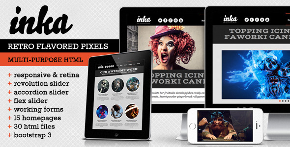 INKA – Retro Responsive Multi-Purpose Template