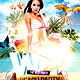 Wet beach Party - GraphicRiver Item for Sale