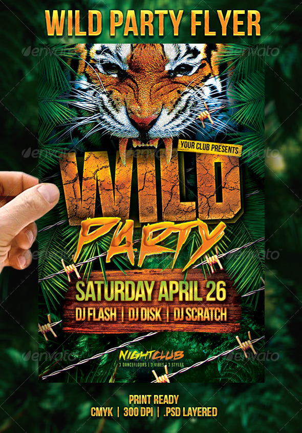 Wild Party Flyer - Events Flyers