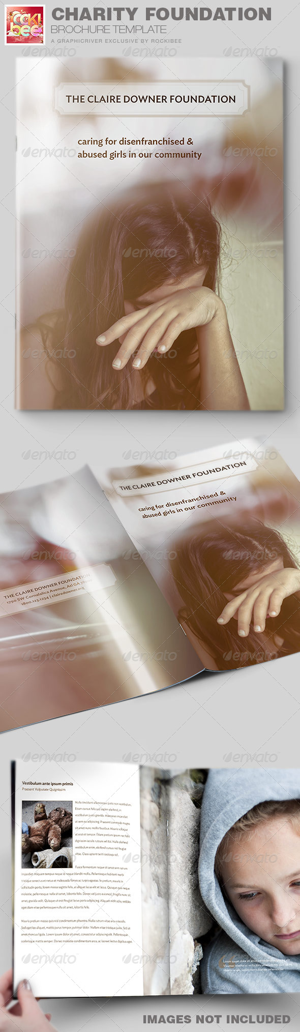 Charity Foundation Brochure Template - Informational Brochures