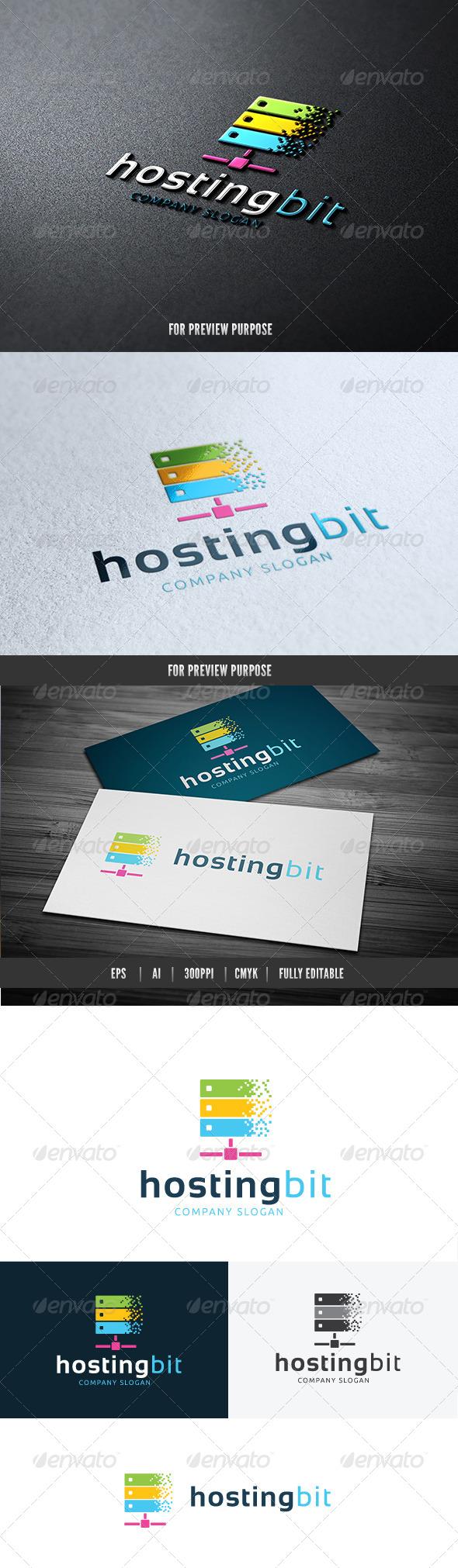 Hosting Bit - Objects Logo Templates
