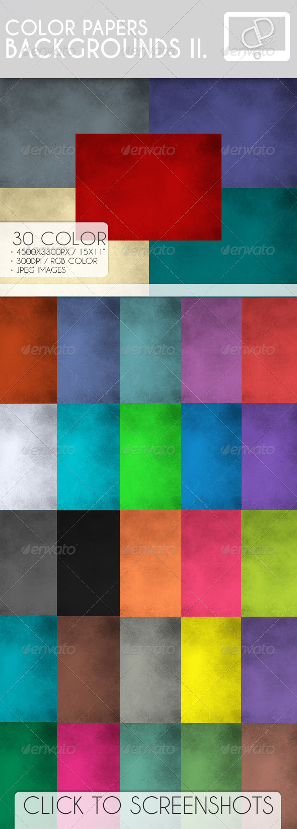 Color Paper Backgrounds II - Backgrounds Graphics