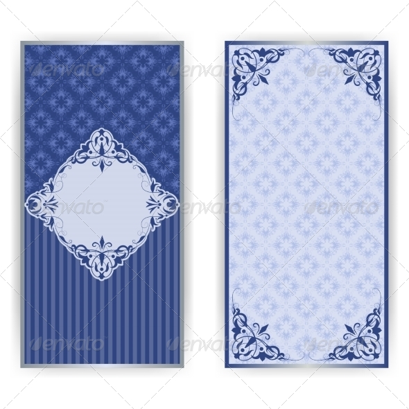 Damask Vintage Card with Lace Ornament - Patterns Decorative
