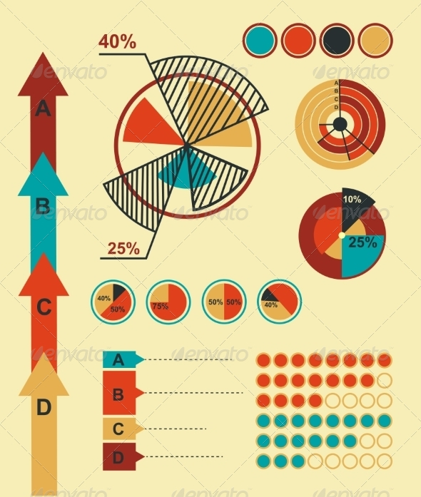 Infographics Elements - Web Technology