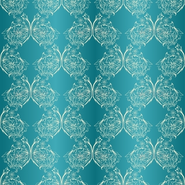 Damask Seamless with Lace Ornament - Backgrounds Decorative