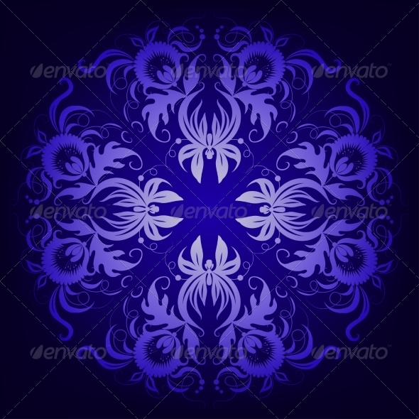 Filigree Damask Background with Lace Ornament - Patterns Decorative