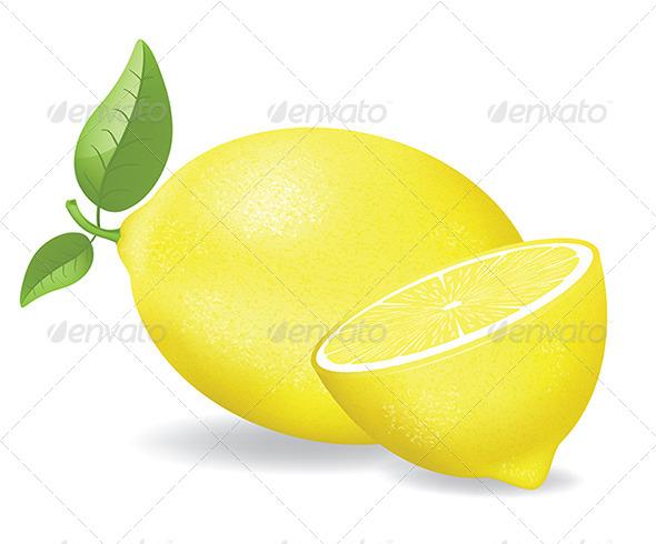Fresh Lemons  - Food Objects