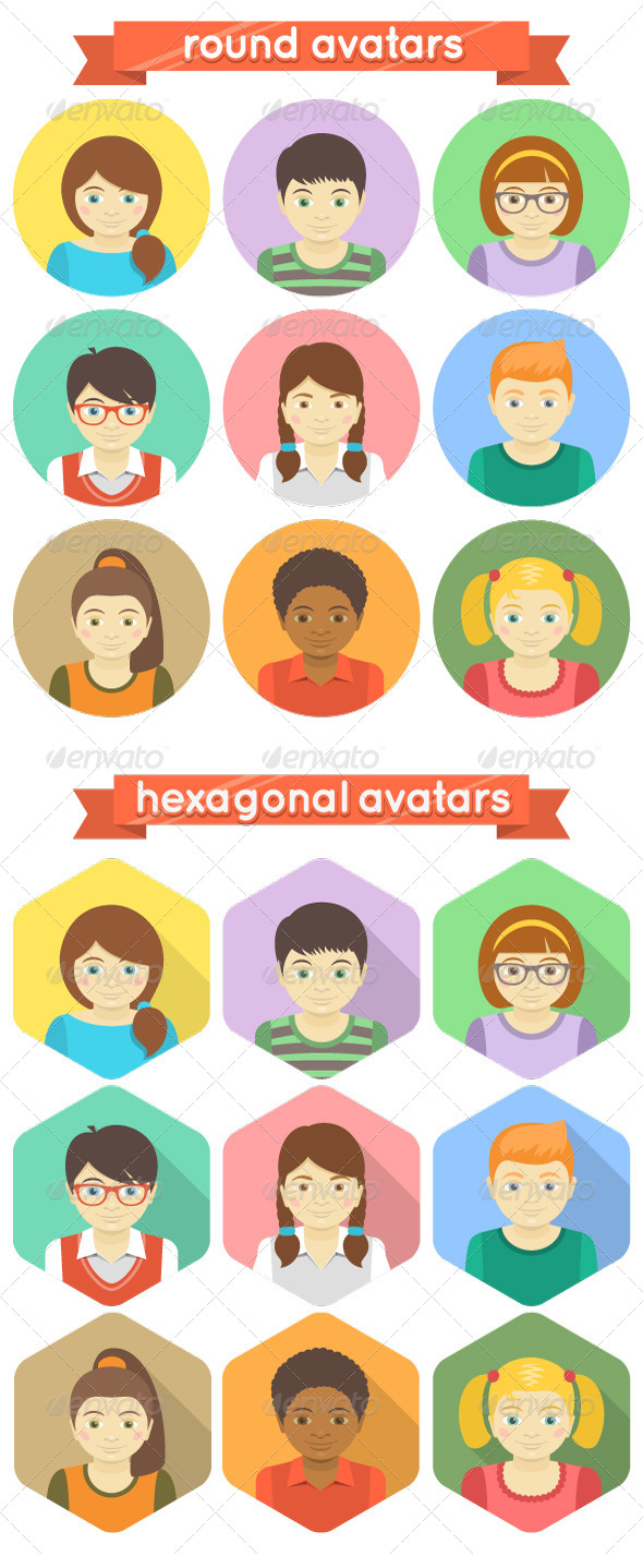 Kids Avatars - People Characters