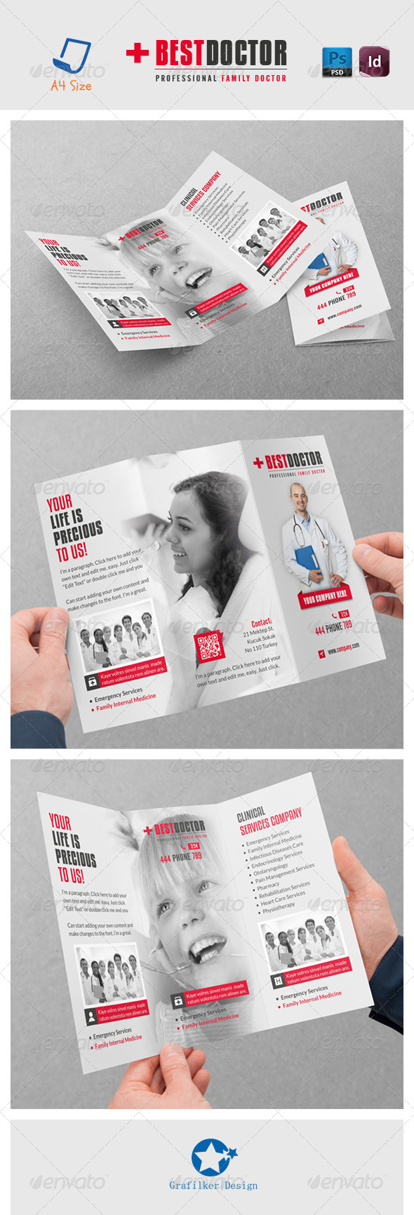 Doctor Tri-Fold Templates - Brochures Print Templates