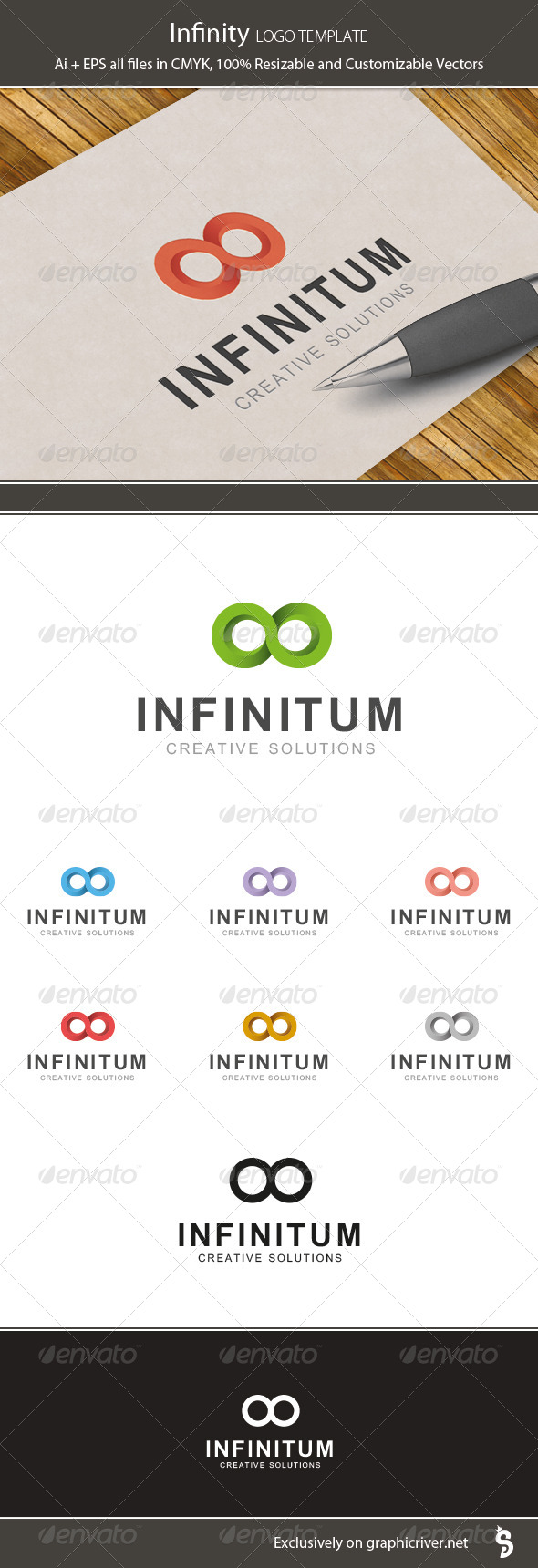 Infinity - Logo Template - Vector Abstract