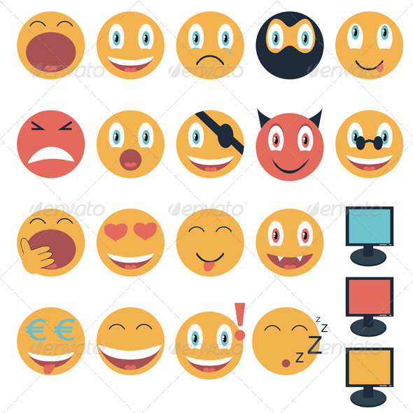 Emoticons - Web Elements Vectors