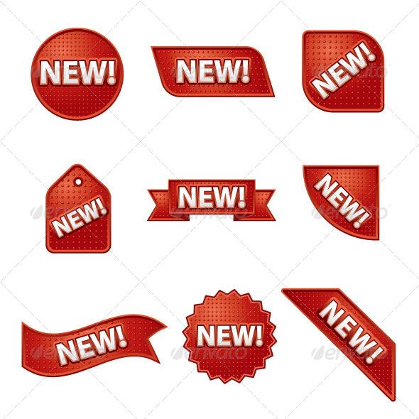 New Advertising Stickers - Vectors
