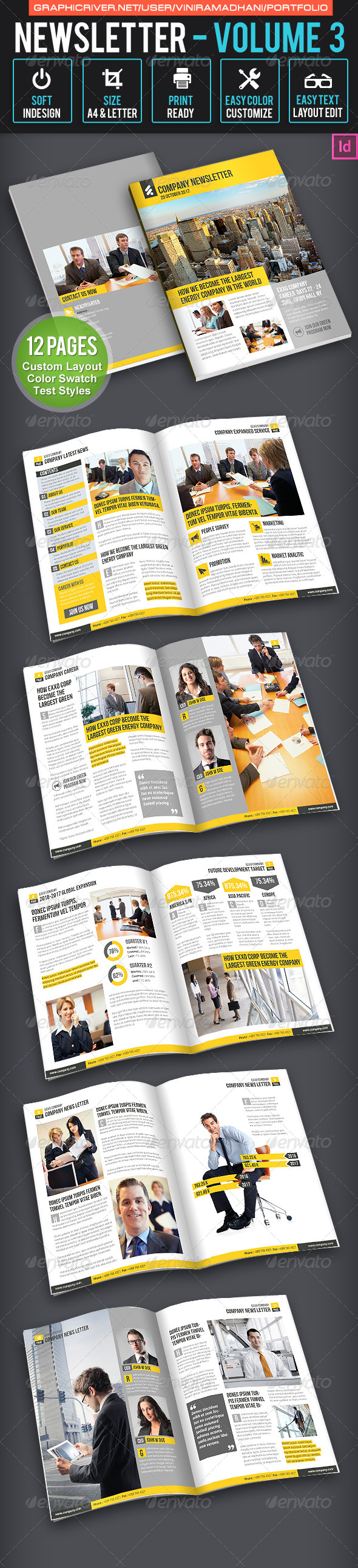 Business Newsletter Volume 3 - Newsletters Print Templates