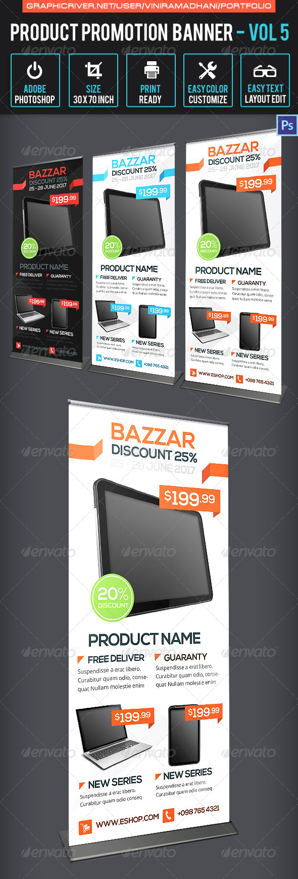 Product Promotion Banner  Volume 5 - Signage Print Templates